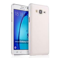 Coque Plastique Rigide Mat pour Samsung Galaxy On5 G550FY Blanc