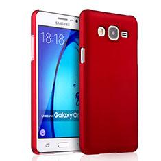 Coque Plastique Rigide Mat pour Samsung Galaxy On5 G550FY Rouge