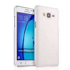 Coque Plastique Rigide Mat pour Samsung Galaxy On7 G600FY Blanc