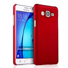 Coque Plastique Rigide Mat pour Samsung Galaxy On7 Pro Rouge