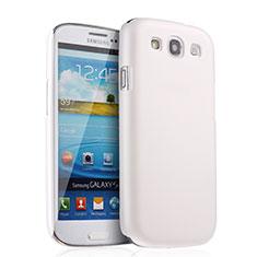 Coque Plastique Rigide Mat pour Samsung Galaxy S3 III LTE 4G Blanc