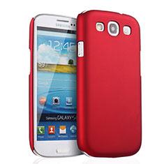 Coque Plastique Rigide Mat pour Samsung Galaxy S3 III LTE 4G Rouge