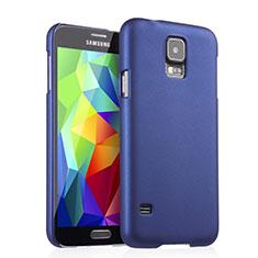Coque Plastique Rigide Mat pour Samsung Galaxy S5 G900F G903F Bleu