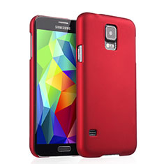 Coque Plastique Rigide Mat pour Samsung Galaxy S5 G900F G903F Rouge