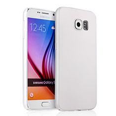 Coque Plastique Rigide Mat pour Samsung Galaxy S6 Duos SM-G920F G9200 Blanc