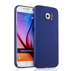 Coque Plastique Rigide Mat pour Samsung Galaxy S6 Duos SM-G920F G9200 Bleu