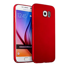 Coque Plastique Rigide Mat pour Samsung Galaxy S6 Duos SM-G920F G9200 Rouge