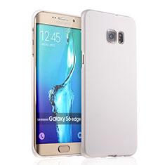 Coque Plastique Rigide Mat pour Samsung Galaxy S6 Edge+ Plus SM-G928F Blanc
