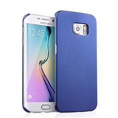 Coque Plastique Rigide Mat pour Samsung Galaxy S6 Edge SM-G925 Bleu
