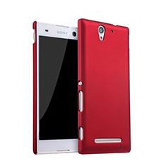 Coque Plastique Rigide Mat pour Sony Xperia C3 Rouge