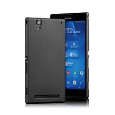 Coque Plastique Rigide Mat pour Sony Xperia T2 Ultra Dual Noir