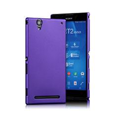 Coque Plastique Rigide Mat pour Sony Xperia T2 Ultra Dual Violet