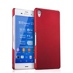 Coque Plastique Rigide Mat pour Sony Xperia Z3 Rouge