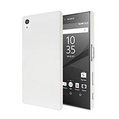 Coque Plastique Rigide Mat pour Sony Xperia Z5 Blanc