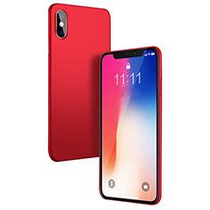 Coque Plastique Rigide Mat W01 pour Apple iPhone Xs Rouge