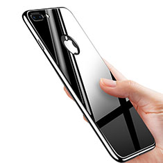 Coque Plastique Rigide Miroir M01 pour Apple iPhone 8 Plus Noir