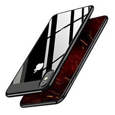Coque Plastique Rigide Miroir M01 pour Apple iPhone Xs Noir