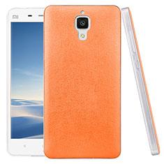 Coque Plastique Rigide Motif Cuir pour Xiaomi Mi 4 LTE Orange
