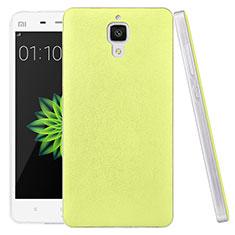 Coque Plastique Rigide Motif Cuir pour Xiaomi Mi 4 LTE Vert