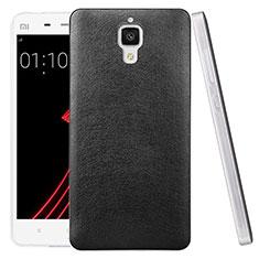 Coque Plastique Rigide Motif Cuir pour Xiaomi Mi 4 Noir