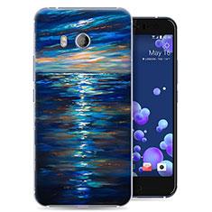 Coque Plastique Rigide Ocean pour HTC U11 Bleu