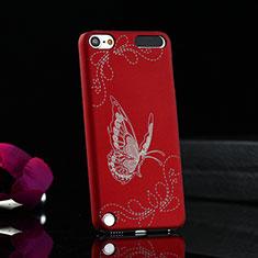 Coque Plastique Rigide Papillon pour Apple iPod Touch 5 Rouge