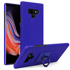 Coque Plastique Rigide Sables Mouvants avec Support Bague Anneau pour Samsung Galaxy Note 9 Bleu