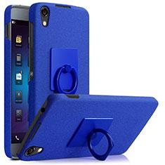 Coque Plastique Rigide Sables Mouvants et Support Bague Anneau pour Blackberry DTEK50 Bleu