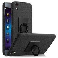 Coque Plastique Rigide Sables Mouvants et Support Bague Anneau pour Blackberry DTEK50 Noir