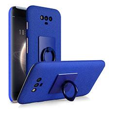 Coque Plastique Rigide Sables Mouvants et Support Bague Anneau pour Huawei Honor Magic Bleu