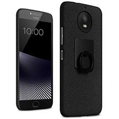 Coque Plastique Rigide Sables Mouvants et Support Bague Anneau pour Motorola Moto G5S Noir
