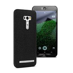 Coque Plastique Rigide Sables Mouvants pour Asus Zenfone Selfie ZD551KL Noir