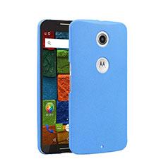 Coque Plastique Rigide Sables Mouvants pour Google Nexus 6 Bleu
