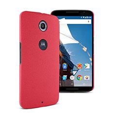 Coque Plastique Rigide Sables Mouvants pour Google Nexus 6 Rouge