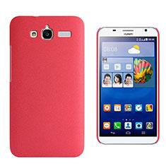 Coque Plastique Rigide Sables Mouvants pour Huawei Ascend GX1 Rouge