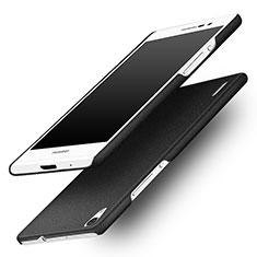 Coque Plastique Rigide Sables Mouvants pour Huawei Ascend P7 Noir