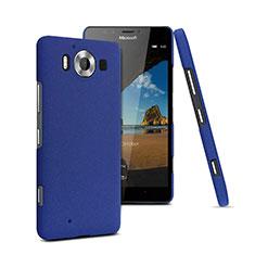 Coque Plastique Rigide Sables Mouvants pour Microsoft Lumia 950 Bleu