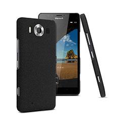 Coque Plastique Rigide Sables Mouvants pour Microsoft Lumia 950 Noir