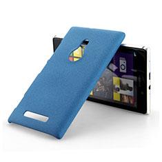 Coque Plastique Rigide Sables Mouvants pour Nokia Lumia 925 Bleu