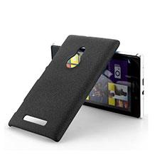 Coque Plastique Rigide Sables Mouvants pour Nokia Lumia 925 Noir