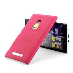 Coque Plastique Rigide Sables Mouvants pour Nokia Lumia 925 Rouge