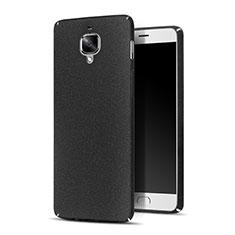 Coque Plastique Rigide Sables Mouvants pour OnePlus 3 Noir
