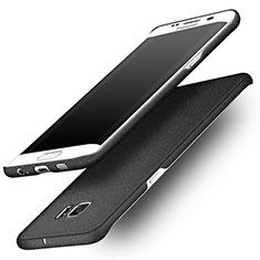 Coque Plastique Rigide Sables Mouvants pour Samsung Galaxy S6 Edge+ Plus SM-G928F Noir