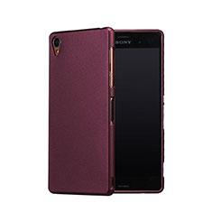 Coque Plastique Rigide Sables Mouvants pour Sony Xperia Z3 Rouge