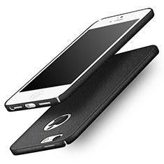 Coque Plastique Rigide Sables Mouvants Q01 pour Apple iPhone SE Noir