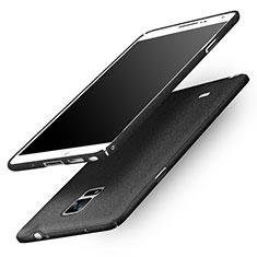 Coque Plastique Rigide Sables Mouvants Q01 pour Samsung Galaxy Note 4 SM-N910F Noir