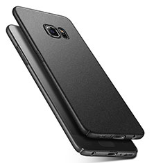 Coque Plastique Rigide Sables Mouvants Q01 pour Samsung Galaxy S6 Duos SM-G920F G9200 Noir