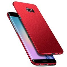Coque Plastique Rigide Sables Mouvants Q01 pour Samsung Galaxy S6 Edge SM-G925 Rouge