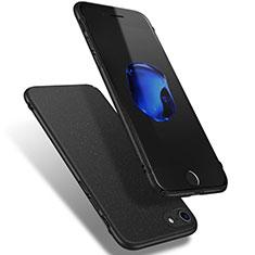 Coque Plastique Rigide Sables Mouvants Q02 pour Apple iPhone 8 Noir