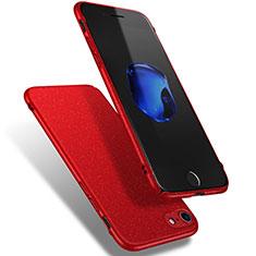Coque Plastique Rigide Sables Mouvants Q02 pour Apple iPhone 8 Rouge